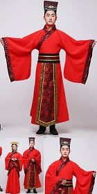 Scholar-bureaucrat Court Dress w/ Crown (RM)