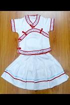 特價品-女童印花中式裙子套裝 (成衣)