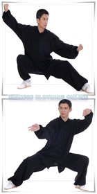 Bargain - Professional Taichi Kungfu Uniform with Pants - Linen (Black)