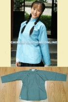 Bargain - Long-sleeve Mandarin Blouse