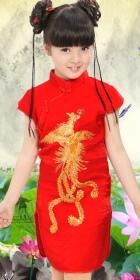 Girl's Phoenix Embroidery Cheongsam Dress (RM)