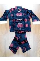 特價品-男童福壽織錦緞套裝 (暗藍色)