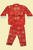 Bargain - Boy's Blessing Icons Mandarin Suit (Red)