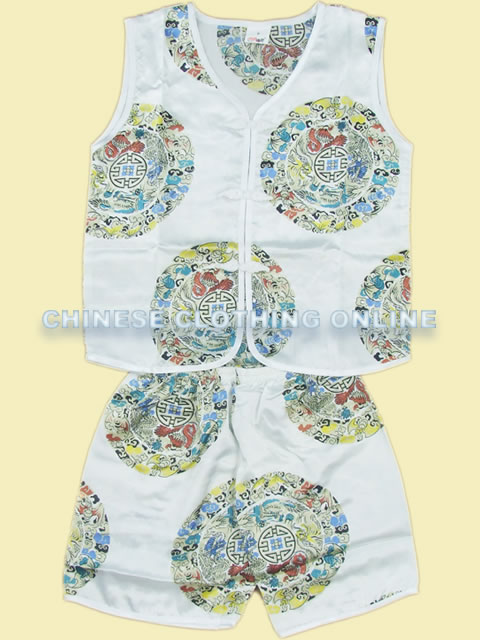 Boy's Short-sleeve Longevity Mandarin Suit (RM)