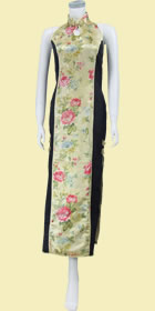 Bargain - Cut-in Shoulders Bareback Long-length Cheongsam