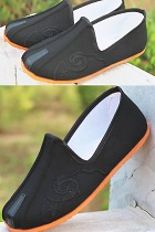 Boy's Double Girder Cloth Shoes w/ Cloud Hook Patterns
