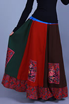 Ethnic Patching Fabric Large Lap Skirt (RM)
