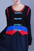 Ethnic Two-sided Wear Cotton Linen Embroidery Vest
