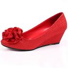 Mid Height Twinkle Wedge Heel Shoes