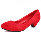 Low Heel Lace Vamp Shoes