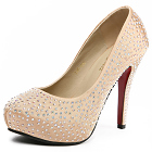 High Heel Artificial Crystal Shoes