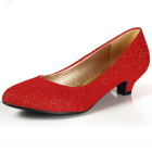 Low Heel Twinkle Vamp Shoes