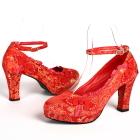 High Heel Calabash Knot Shoes