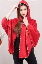 Trendy Ethnic Flannel Cloak w/ Hood (RM)