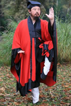 Long Manteau Robe with Purfle (dual-color) (CM)