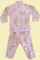 Bargain - Girl's Mandarin Suit (Pink)