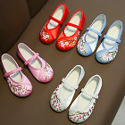 Girl's Small Plum Blossom Embroidery Shoes (Multicolor)