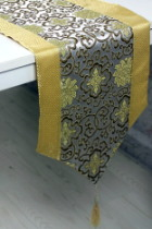 Chinese Ethnic Lotus Embroidery Table Runner (RM)