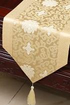 中國風情蓮花刺繡桌旗 (成品)