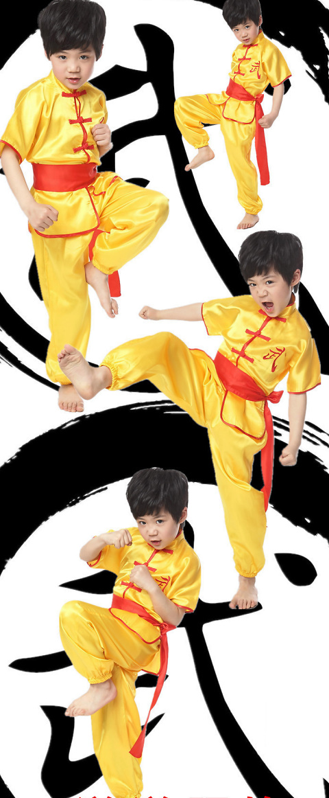 Kid's Short-sleeve Kung Fu Suit (RM)