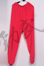Professional Taichi Kungfu Pants - Ice Silk Linen - Watermelon Red (RM)