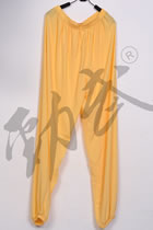 Professional Taichi Kungfu Pants - Ice Silk Linen - Yellow (RM)