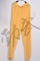 Professional Taichi Kungfu Pants - Ice Silk Linen - Yellow (RM)