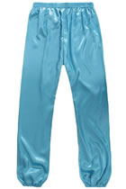 Professional Taichi Kungfu Pants - Korean Silk - Deep Sky Blue (RM)