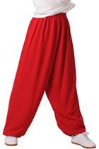 太極武術練功褲 - 菱形麻 - 紅色