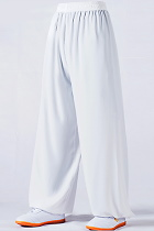 Professional Taichi Kungfu Pants - Cotton/Silk - White (RM)