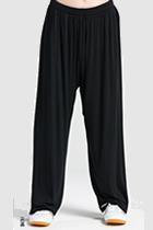 專業太極武術練功褲 - 莫代爾 - 黑色