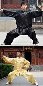 Mandarin Collar Binding-cuff Jacquard Kung Fu Suit (CM)