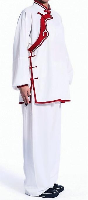 Women Inclined-lapel Ruyi Applique Kung Fu Suit (CM)