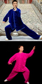 Velvet Mandarin Collar Binding-cuff Kung Fu Suit (CM)