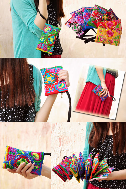Ethnic Embroidery Mini Handbag (Multicolor)