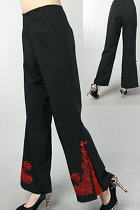 Mandarin Pants w/ Lotus and Auspicious Cloud Embroidery (RM)