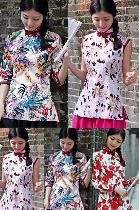 Cotton Printing Mandarin Blouse (RM)