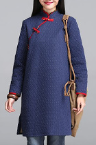 Trendy Ethnic Inclined-front Wadded Coat (RM)