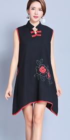民族風情無袖連衣裙 (成衣)