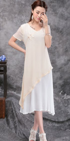 Ethnic Countryside Style Leisure Linen Dress (RM)