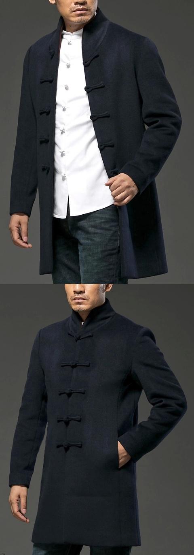 Standing Collar Long Coat (CM)