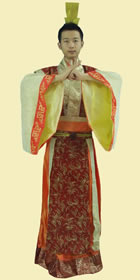 Bargain - Han Scholar-bureaucrat Court Dress w/ Crown (Gold)