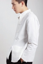Mandarin Plain Cotton Shirt (RM)