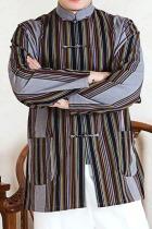 Mandarin Stripe Cotton Shirt (RM)