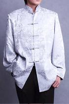 Mandarin Longevity & Auspicious Cloud Jacquard Shirt/Jacket (CM)