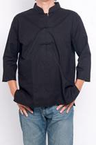 Bargain - 3/4-sleeve Mandarin Pullover