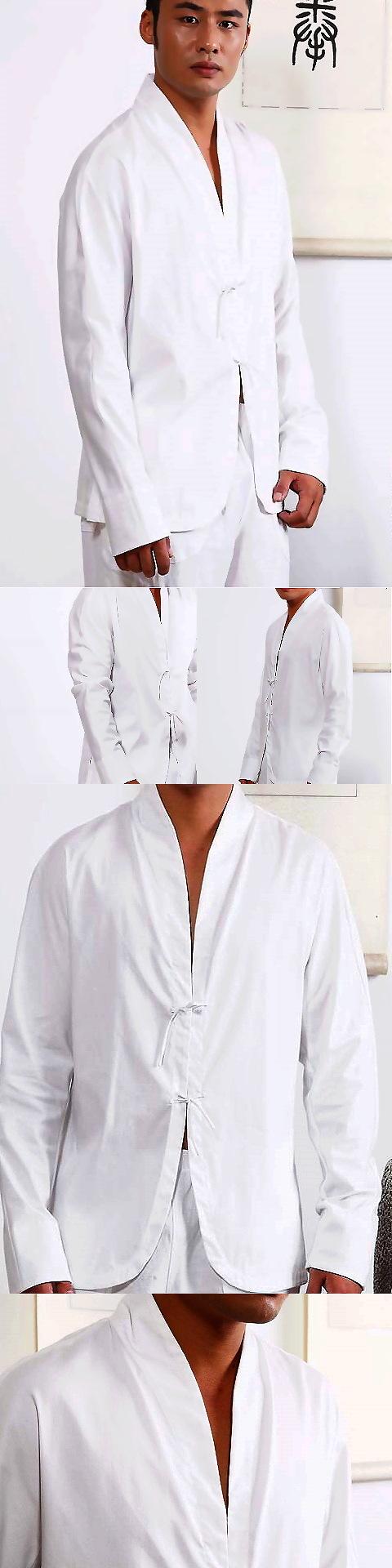 Long-sleeve V-collar Mandarin Shirt (CM)