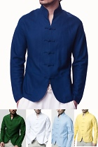 Mandarin V-collar Shirt/Jacket (CM)