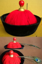 Chinese Qing Dynasty Official Hat for Adults