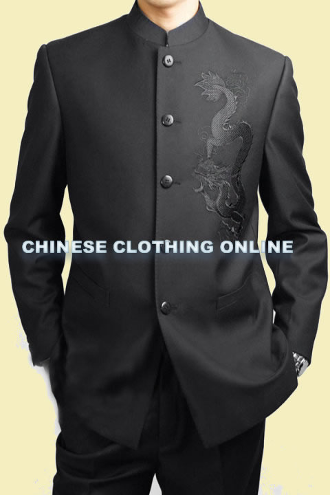 Modernised Mao Suit w/ Big Dragon Embroidery (RM)